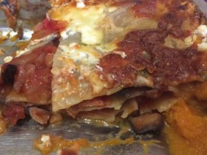 Butternut squash and bean lasagne 1