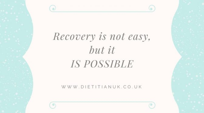 What makes it easier to recover from an eating disorder?