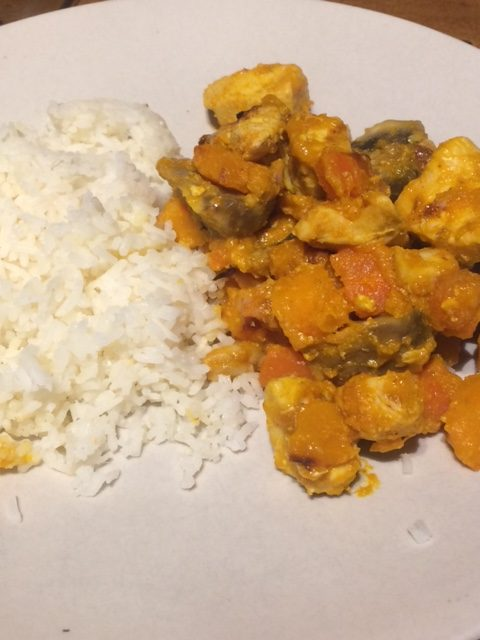 Simple Chicken and Butternut Curry.