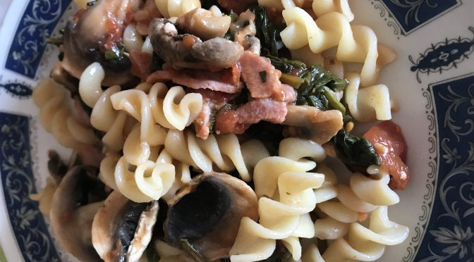Bacon, Chard and Rosemary Pasta