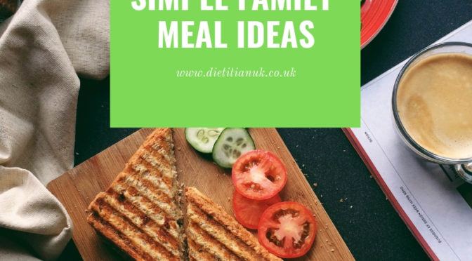 Saving my sanity by meal planning – simple family meals.