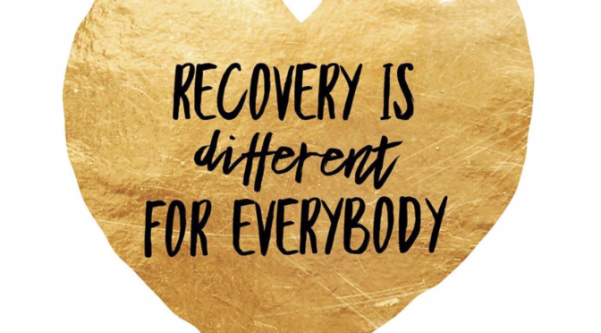 WHAT RECOVERY LOOKS LIKE… PART 1