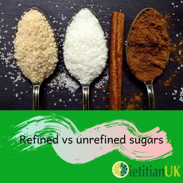 Are unrefined sugars healthier than refined sugars?