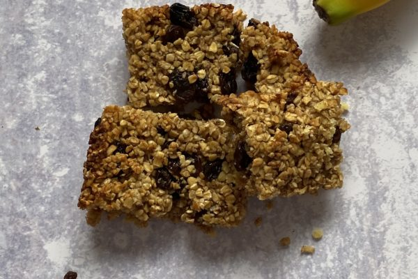 The famous banana flapjacks