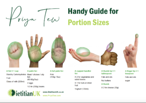 Priya Tew: handy portion guide
