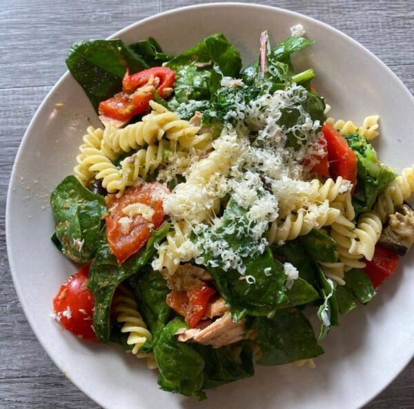 Simple Roasted Veg & Salmon Pasta