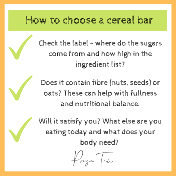 How to choose a cereal bar